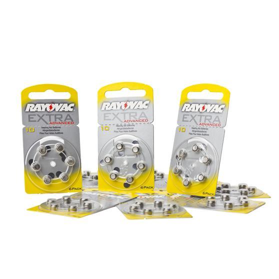 60x rayovac extra avanzate pila per apparecchio acustico for Batterie orologi tabella